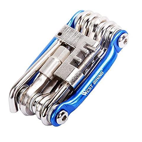 Bike Repair Tools Kit Set & Maintainance, West Biking Mini Compact Bicycle Multi Tools with Multifunction Allen