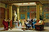 Forex 120 x 80 cm: Rehearsal of 'The Fluteplayer' and 'The Diomedes' Wife' in The Atrium of The Pompeian House of Princ de Gustave Clarence Rodolphe Boulanger/Bridgeman Images