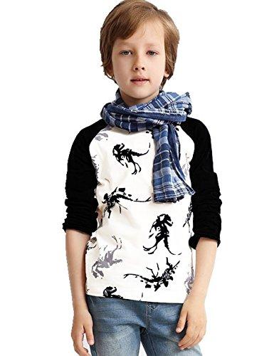 Tkiames Jungen Kinder Dinosaurier Baumwolle Langarmshirt T-shirt 98 104 110 116 122 (Dinosaurier-jungen-t-shirt)