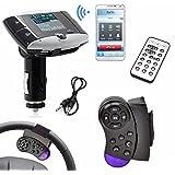Theshy 1.5''LCD Car Kit MP3 Player Bluetooth FM Transmitter Modulator SD MMC USB Remote