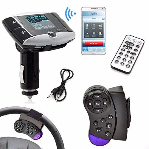 Newest!!!1,5 Zoll LCD Car Kit MP3 Player, Bluetooth FM Transmitter, Modulator SD MMC USB-Fernbedienung FM Radio, bis FM-Radio Sprachaufnahme Musik Player Musikspieler (schwarz)