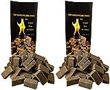 2 x 100 (insgesamt also 200 Stück) natürlicher Ofenanzünder aus Holzfaser # Grillanzünder...