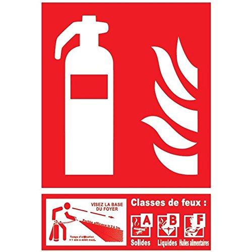 Feuerlöscher-Panel der Klasse ABF - PVC - 150 x 200 mm (Feuerlöscher Der A Klasse)