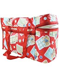 Ineffable Multi Purpose Baby Diaper Mother Bag With 2 Bottle Holders - Keep Baby Bottles Warm - Assorted Prints...