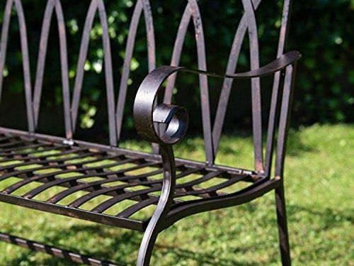 Nostalgische Gartenbank 116cm Eisen Bank Nostalgie Antik-Stil Garten - 7