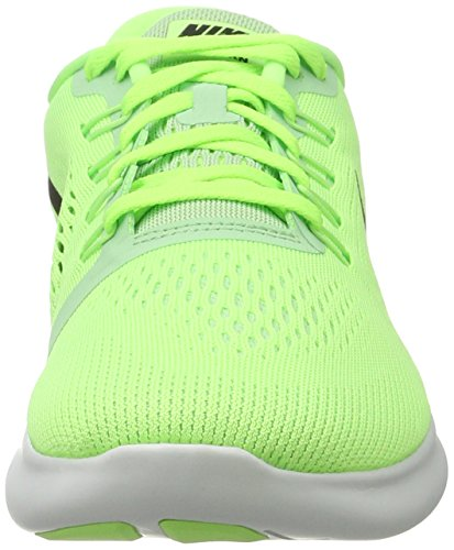 Nike Free Rn, Scarpe da Ginnastica Basse Donna Verde (Ghost Grn/blk-fresh Mnt-off Wht)