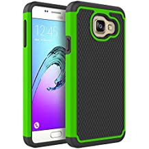 Coque Galaxy A3 2016, Pasonomi® Samsung Galaxy A3 2016 Coque Housse Étui Hybride Armour Couche 2 en TPU + PC Anti-Chocs dur Coque pour Samsung Galaxy A3 2016, Vert