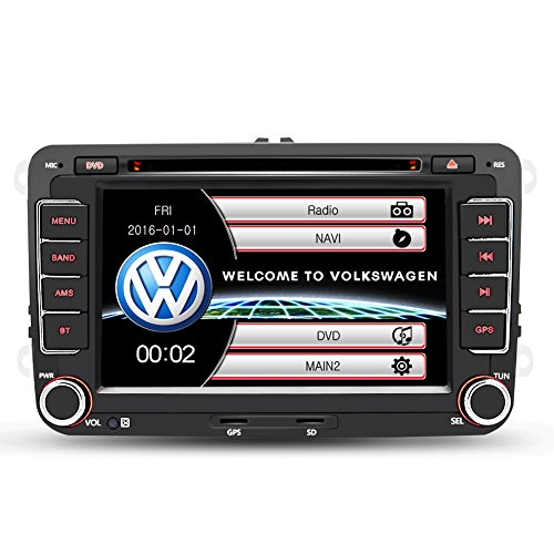Autoradio Radio de Voiture stéréo 7 Pouces VW 2 Din HD Bluetooth Navigation GPS stéréo DVD/CD/Radio/Carte SD/USB Multimédia Player Caméra de Recul Supporté (Aucune caméra de recul)