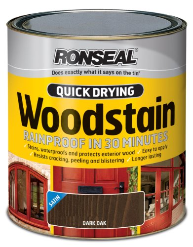 ronseal-qdwsdo750-750ml-woodstain-quick-dry-satin-dark-oak