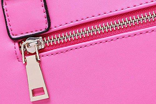 Sommerart Und Weise Wilde Beiläufige Art Und Weiselederhandtaschen-Schulterbeutel-Diagonalpaket Pink