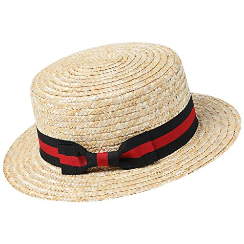 ArtiDeco Panama Hut Fedora Trilby Bogart Hut Herren Storhhut 1920 Stil Mafia Gangster Gatsby Kostüm Accessoires (Rot Schwarz) (Für Erwachsene Fashion Flapper Kostüm Rot)
