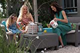Keter Corfu Outdoor Garden Coffee Table with Storage - Graphite
