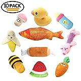 Quietschende Hundespielzeug 10 Stück,RoyalCare Plüsch Sound und kauen Obst Gemüse Spielzeug für Mittlerer bis kleiner Hund