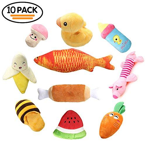 Chillón del perro juguetes un paquete de 10,RoyalCare frutas y verduras para perros pequeños y medianos
