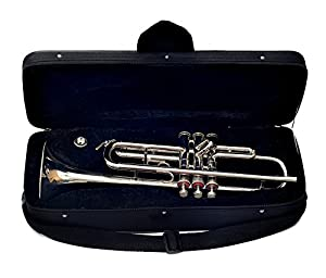TRUMPET FOR SALE NEW NICKEL PLATED Bb TRUMPET WITH HARD CASE+2 MP+SPRINGS