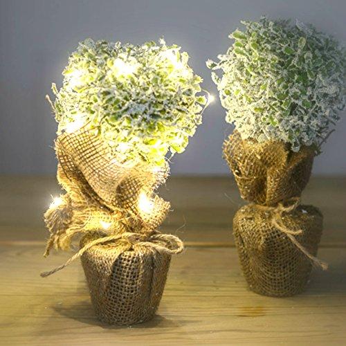 satz-von-zwei-kleinen-faux-knstlichen-topiary-baum-mit-jute-tasche-hochzeit-tischdekoration