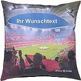 Unbekannt FC Bayern Kissen Allianz Arena mit persönlichen Wunschtext in Ihrer Wunschfarbe