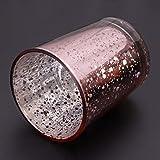 Wanfor 3D Geometrischer Kerzenhalter aus Metall für Hochzeit, Heimdekoration, 3 Farben, Eisen, Gold, Einheitsgröße - 3