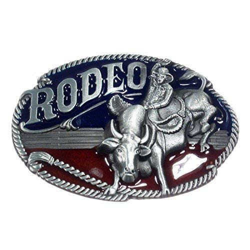 Brands Rodeo, cowboy, Western - coloures belt buckle