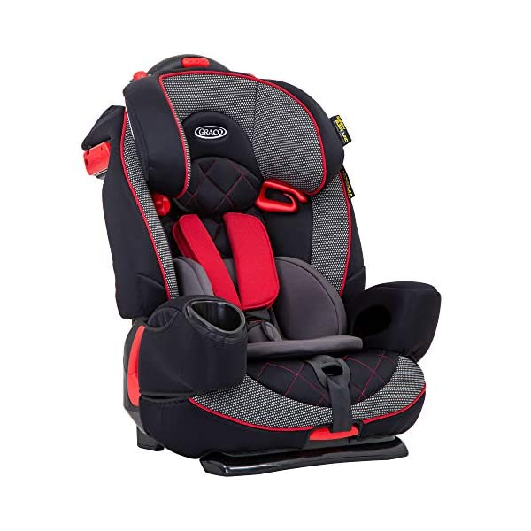 Graco Nautilus Elite Saturn Harnessed Booster Car Seat, Group 1/2/3, Red/Black Graco 2-in-1 convertible car seat for children 9 to 36 kg (approx 9 months to 12 years) From toddler to big kid, nautilus elite grows with your child; the no-rethread harness allows you to easily adjust the harness and headrest together Convenient one-hand height and width adjustable headrest 2