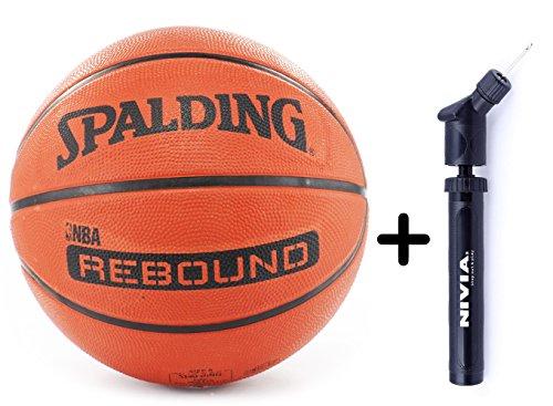 Spalding Basketball Rebound 7 Combo ( Spalding Nba Rebound Brick, Size 7 + Niva Ball Air Pump)