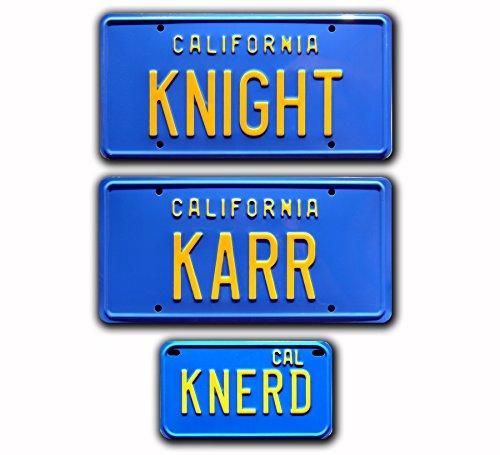 Preisvergleich Produktbild Celebrity Machines Knight Rider / kitt Trans Am / Knight + Karr + knerd / Metall Prägung Vanity Prop Nummernschild Combo