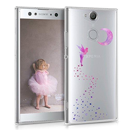 kwmobile Sony Xperia XA2 Ultra Hülle - Handyhülle für Sony Xperia XA2 Ultra - Handy Case in Pink Violett Transparent