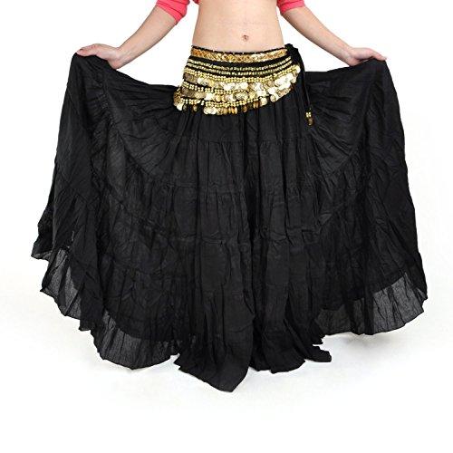 TOOGOO(R) Fashion Boehmen Lange Rock Swing Rock Bauchtanz Ballsaal Kostueme Vollstaendiger Kreis Frauen Kleid Tanz Roecke (Kostüm Design Tanz Ballsaal)