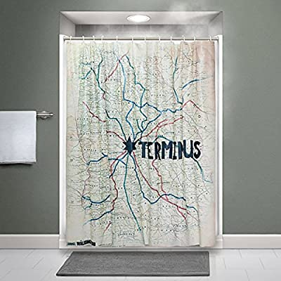 THINKGEEK - Rideau de Douche Walking Dead - Terminus Map