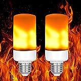 Cozywind Flackernde Glühbirne Led Flamme Glühbirne E27 Birne Led Feuer Lampe Flammeneffekt Simulation Flackerlicht Flamme Lichter Dekorative Atmosphäre Licht für Bar, Haus, Festival, Party, Hochzeit (2 Packs)