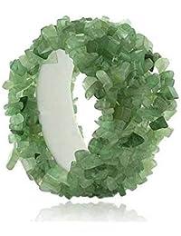 Bracelet extensible avec gros éclats d'Aventurine véritable