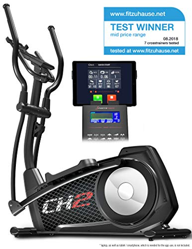 Sportstech Test Winner Cx2 Crosstrainer With Smartphone App & Integrated Power Generator - Elliptical Cross Trainer Incl. Bluetooth Console And Tablet Holder - Ergometer With 27 Kg Flywheel Mass