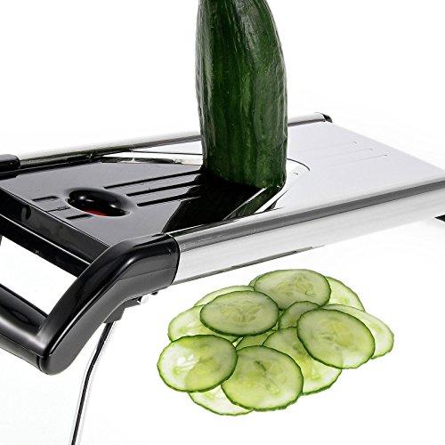 Westmark Gemüseschneider/ -hobel, Mit 5 Schneidaufsätzen, Edelstahlklingen, V-Plus, Schwarz/Silber/Rot, 11302260 - 6