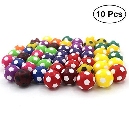 Toyvian 10pcs Tischfußball Bälle Kickerbälle 36mm Mini Fußball Spielzeug (Sortierte Farbe)