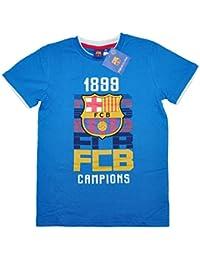 FCB 100% con Licencia Oficial FC Barcelona Camiseta de Manga Corta Tee Para Niños Kids