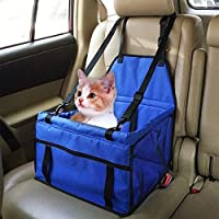 Pets Empire Car Booster Seat Carrier with Clip-on Safety Leash and Zipper Storage Pocket (Colour and Pattern May Vary)