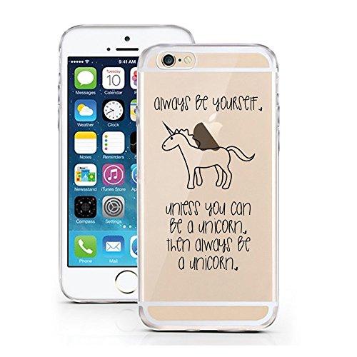 Blitz® PUSHER 2 iPHONE Transparent Weiche Silikon Schutzhülle TPU Bumper Case Dream Bigger iPhone 6 6s Be a Unicorn
