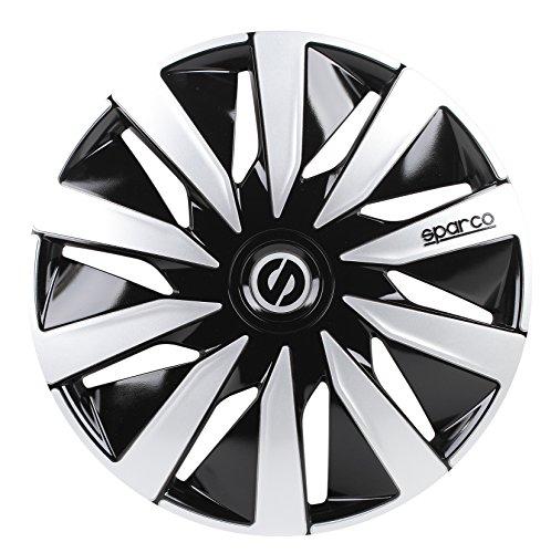 Sparco SPC1691BKSV wheel covers Lazio 16-inch black/silver