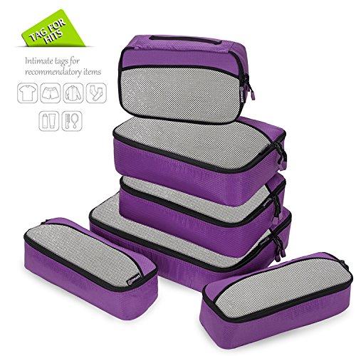 packing cubes packw rfel set kleidertaschen packtaschen 6 teiliges ltra leichte koffer organizer. Black Bedroom Furniture Sets. Home Design Ideas