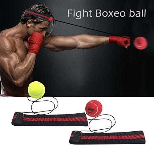 Box-Reflex-Ball zur Verbesserung Ihrer Reaktionsgeschwindigkeit Kampf Dekompression Vent Ball Reflex ,Boxstudio-Ausrüstung, geeignet sowohl für Training MMA und andere Kampfsportarten und Fitnessübungen (Rot) (Boxen-ausrüstung)