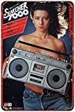 PotteLove The Searcher 7000 Boombox Ghetto Blaster Reproduction Metal Sign 8 X 12