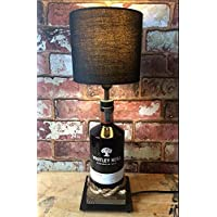 Whitley Neill Rhubarb and Ginger Gin Lamp with Black Shade