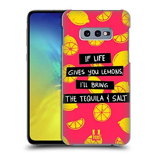 Head Case Designs Tequila Und Salz Leben Und Zitrone Harte Rueckseiten Huelle kompatibel mit Samsung Galaxy S10e (Salz Des Lebens T-shirt)