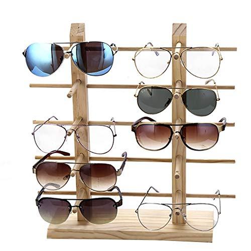 JUSTDOLIFE Brille Anzeige Stand Kreatives Holz Sonnenbrillen Stehen für Zuhause