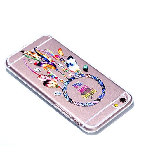 Cover iPhone 6 Custodia iPhone 6s Silicone Anfire Morbido Flessibile Gel TPU Case per Apple iPhone 6/6s (4.7 Pollici) Ultra Sottile Slim Clear Trasparente Copertura Ultra Leggera Antiurto Gomma Protet Piuma Campanula