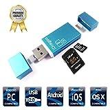 iThird Lettore esterno di schede di memorie 3 in 1, per schede micro SD/SD, porta USB OTG Android Lightning, per iPhone Samsung iPad Mac PC (schede non incluse)