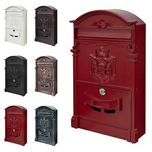 Mur Boîte Aux Lettres Rétro Antique Nostalgie Vintage 6 Couleurs V2Aox, Colour:Red