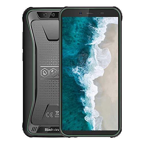 Robustes Handy entsperren, Blackview BV5500 GSM IP68 wasserdichtes Smartphone, Android 8.1 3G Dual-Karte 5,5 Zoll Quad Core 2GB + 16GB, 4400mAh Akku (Grün) (Entsperren Handy Handy Tmobile)
