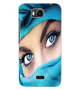ColourCraft Lovely Eyes Design Back Case Cover for HUAWEI HONOR BEE