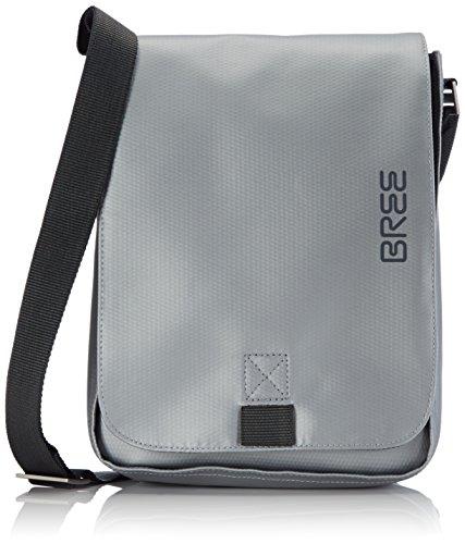 BREE Punch 52, chrome, shoulder bag S 83570052 Unisex-Erwachsene Schultertaschen 28x22x6 cm (B x H x T), Silber (chrome 570) -